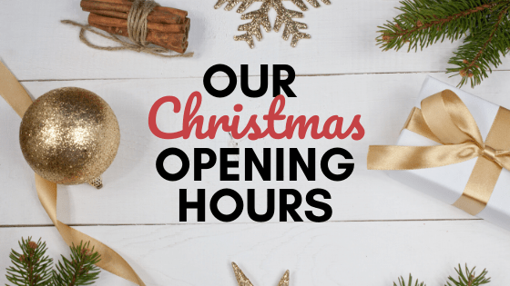 Our Christmas Opening Hours 2019